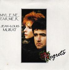 MYLENE FARMER & JEAN-LOUIS MURAT REGRETS / (CLASSIC BONUS BEAT) FRENCH 45 SINGLE