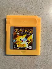 Pokemon Yellow Version Game Boy Color with Case Fast Free Shipping