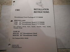New Holland SNOWBLOWER FRONT PACKAGE 717156006 INSTALLATION Manual