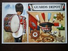 POSTCARD DRUMMERS OF THE FOOT GUARDS - GUARDS DEPOT 1980'S