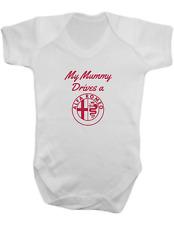 My Mummy Drives a Alfa Romeo -Baby Vest-Baby Romper-Baby Bodysuit-100% Cotton