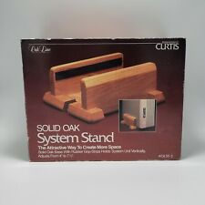 VTG Curtis Solid Oak Line System Stand Adjustable PC Tower CPU Holder NEW IN BOX