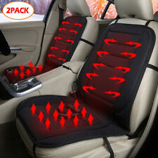 2PCS Universal Car Seat Pad Cushion Cover Heating Heater Warm Heated Cold Winter