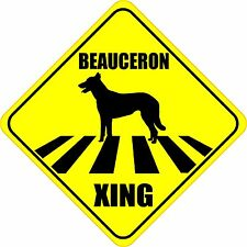 "Beauceron Xing Crossing Road Sign 5"" Dog Silhouette Sticker"