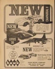 1966 Hawk~Lotus~Chaparral Slot Cars Racing~Model Kits Toy Memorabilia Promo Ad