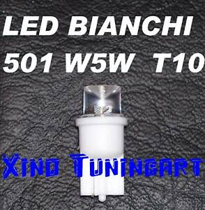 Light Bulbs White LED 7000K T10 W5W Lights Position 180°