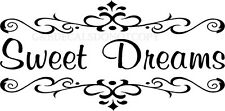 SWEET DREAMS BEDROOM VINYL DECAL WALL LETTERS WORD HOME DECOR