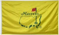 Masters Flag YELLOW 3x5 Ft Golf Banner Augusta - Golf 2 Metal Grommets