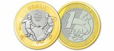 Brésil-RIO en 2016 Jeux Olympiques - 1 REAL coin-Football/Soccer