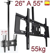 "Soporte de techo para tv lcd led 4K smart 26"" A 55"" giratorio inclinable 55KG"