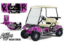 Club Car Golf Cart Wrap Graphics Vinyl Sticker Decal Kit 1983-2014 CIRCUS PINK