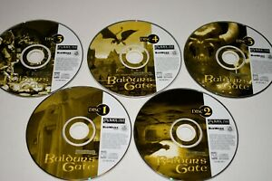 Baldurs Gate 1998 For PC-Only Comes 5 Discs Only