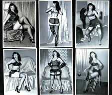 Bettie Page In Studio Postcard Set III  Pin-Up Girl Nylon Stockings Erotic Betty