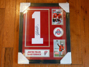 Justin Fields Ohio State Signed Framed Jersey Number JSA