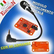 MODULO RICONOSCIMENTO VOCALE 80 COMANDI - VOICE SPEECH RECOGNITION ARDUINO COMP.