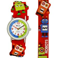 Ravel Robot 3D Kids Robot Time Teacher Quartz Watch R1513.61