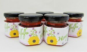 2 Ounce Alfalfa Honey - 5 Small Glass Jars
