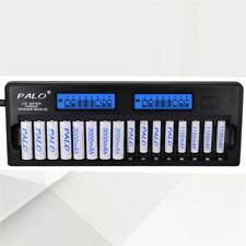 PALO 16 slot bay LCD AA AAA Battery Charger For Ni-MH Ni-Cd Rechargeable