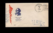 WWII Patriotic George Washington & Flag Free Germania PA VE Day Cover 1r