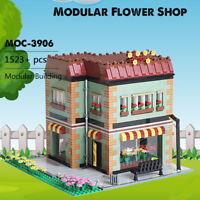 Modular Flower Shop MOC Building Blocks Set Educational Toys Bricks Kit 1523pcs