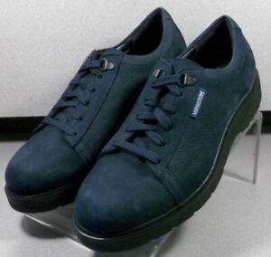 ELIOTT NAVY MMSP75 Men's Shoes Size 8 M (EUR 7.5) Leather Lace Up Mephisto
