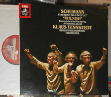 SCHUMANN No 3 RHEINISCHE/RHENISH; 4 HÖRNER/FOUR HORNS KLAUS TENNSTEDT LP JAPAN