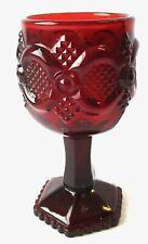 Vintage Ruby Red Avon Cape Cod Glass Claret Wine Goblet 1975