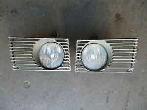 USED Porsche 914-4 & 6 1970-74 Fog Light assemblies & GRILLS  ORIGINAL PAIR NICE