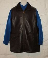 Brown Look Leather MARCA Zip Hip Length Casual Riding Jacket Waistcoat 42 / 52