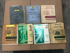 Lot Of Vintage Machine Manuals