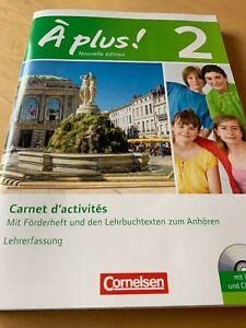 A plus! Nouvelle Edition 2. Carnet d'activites. Lehrerfassung. Lösungen.