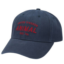 ANIMAL MENS CAP.NEW REVERT 6 PANEL NAVY COTTON ADJUSTABLE BASEBALL HAT 8S 4 F94