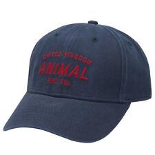 Animal Hombre Gorra. nuevo REVERT 6 Panel béisbol Sombrero Ajustable Algodón Azul Marino 8S 4 F94