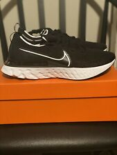 Nike Men's React Infinity Run Flyknit Black/White Size 10