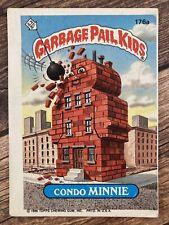 ⭐️ Die Cut Error Garbage Pail Kids 1986 Condo Minnie sticker card Topps 🎏
