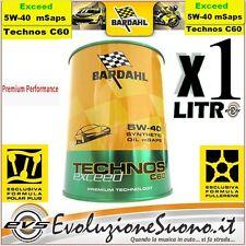 2 Litri Bardahl Technos C60 5W40 5w40 Exceed C3 Olio Motore Fullerene PolarPlus