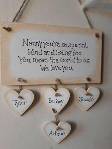 Personalised Childminder babysitter au pair Gift Hanging Christmas Sign