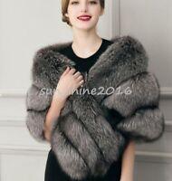 Women Fox Fur Vest Waistcoat Coat Parka Outwear Overcoat Trench Thicken Fashion