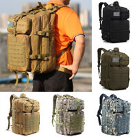 High-capacity 45L Outdoor Military Tactical Backpack Rucksack Camping Hiking Bag