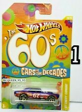 HOT WHEELS 2011 THE '60s CARS OF THE DECADES '67 CHEVY CAMARO BLUE