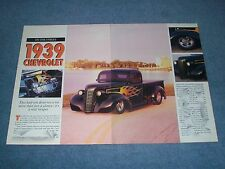 """1939 Chevrolet Pickup Street Rod Vintage Article """"""""It's a Real Sleeper"""""""