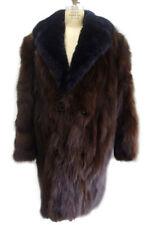 NEW SHOWROOM BROWN FOX FUR COAT JACKET W/ OPOSSUM COLLAR MEN MAN SIZE 46-48 XXL