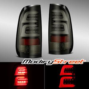 For 97-03 Ford F150 99-07 F250/F350/F450 Super Duty JET BLACK LED Tail Lights