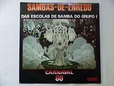 sambas de enredo Das escolas de samba do grupo I Carnaval 80 85080