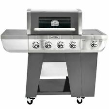 Propane Gas Grill BBQ Heavy Duty 4-Burner Side Large Powerful Barbecue Stainless