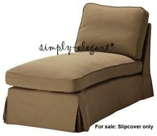 IKEA EKTORP Slipcover Cover for Chaise Lounge - Idemo Light Brown