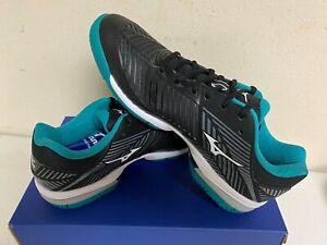 Mizuno Men's Wave Exceed Tour 3 Tennis Shoe in Black/Green