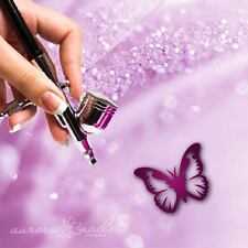Aerógrafo plantillas adhesivas - Nail Art - svg33 - mariposa Mariposa Volar 80x