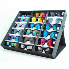 18 Grid Tray Vertical Portable Sunglass Covered Standup Sunglasses Display Rack