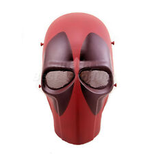 New Tactical Airsoft Paintball Cosplay Outdoor Full Face Protective Mask Red